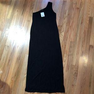 TOPSHOP one shoulder maxi dress sz 12